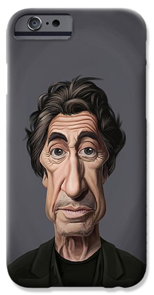Al Pacino Drawings iPhone Cases - Celebrity Sunday - Al Pacino iPhone Case by Rob Snow