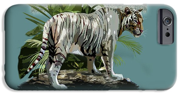 Recently Sold -  - The Tiger iPhone Cases - White Tiger and the Taj Mahal Image of Beauty iPhone Case by Gina Femrite