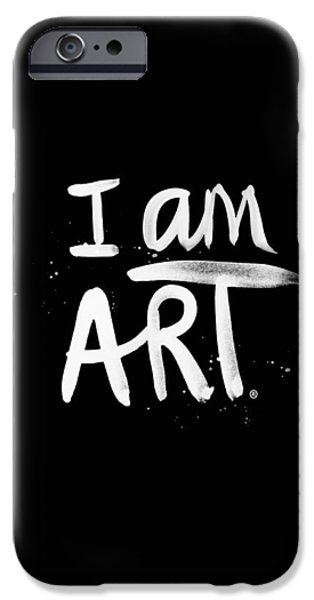 Painted Mixed Media iPhone Cases - I Am Art- Painted iPhone Case by Linda Woods
