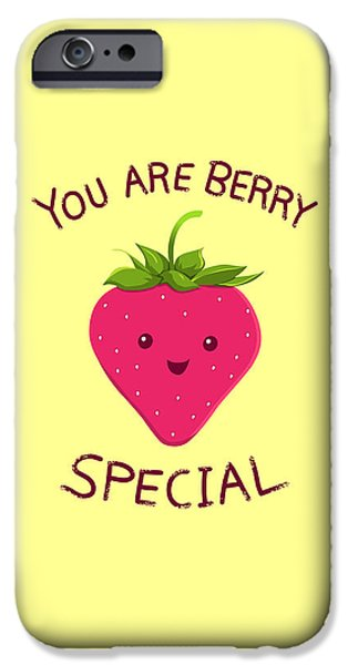 Berry iPhone Cases - Fruity Truth iPhone Case by Ana Villanueva