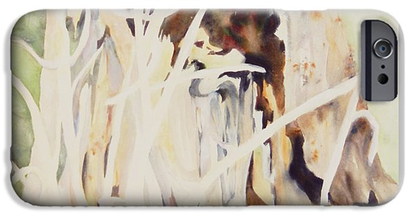 Abstract Expressionist iPhone Cases - Woodland Abstract 2 iPhone Case by Sharon Nelson-Bianco