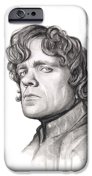 Games iPhone Cases - Tyrion Lannister iPhone Case by Olga Shvartsur