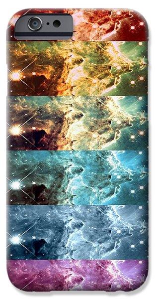 Constellations iPhone Cases - Rainbow Galaxy iPhone Case by Johari Smith