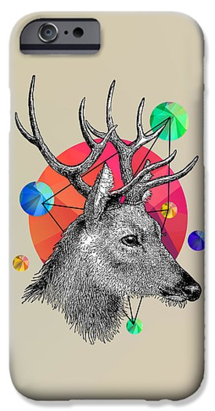 Animation iPhone Cases - Deer iPhone Case by Mark Ashkenazi