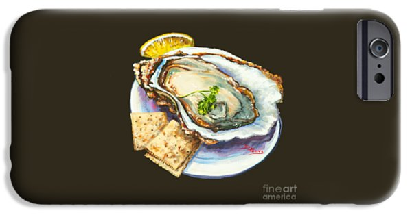 Seafood iPhone Cases - Oyster and Crystal iPhone Case by Dianne Parks