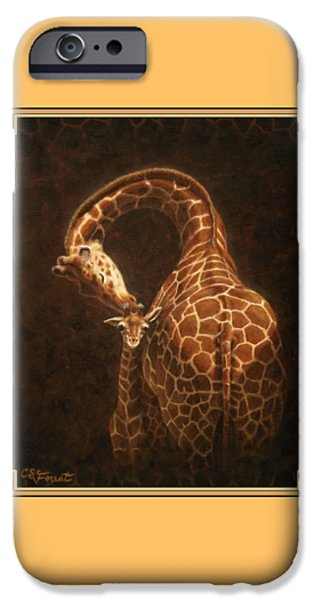 Kisses iPhone Cases - Loves Golden Touch iPhone Case by Crista Forest