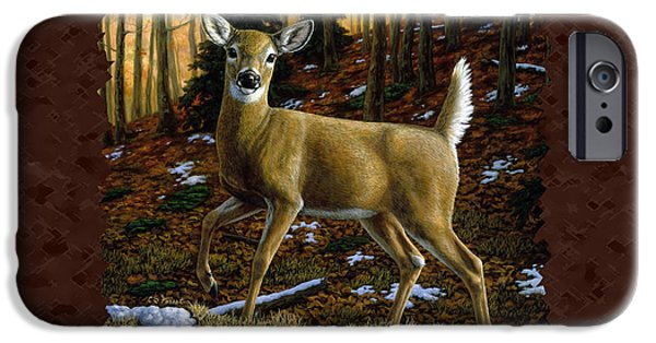 Whitetail Deer iPhone Cases - Whitetail Deer - Alerted iPhone Case by Crista Forest