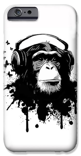 Ape iPhone Cases - Monkey business iPhone Case by Nicklas Gustafsson