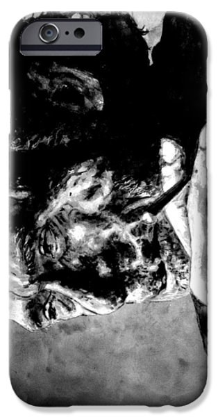 Charles Bukowski iPhone Case by Richard Tito