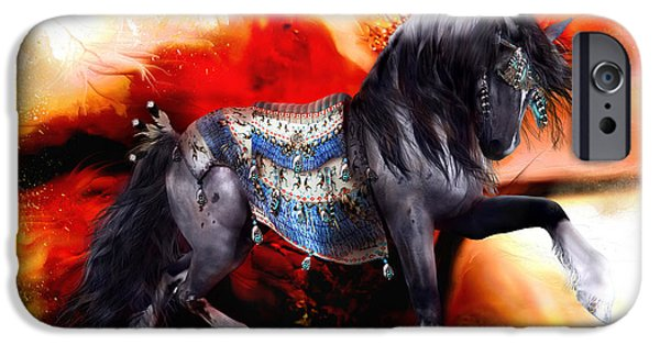 Conway iPhone Cases - Kachina Hopi Spirit Horse  iPhone Case by Shanina Conway