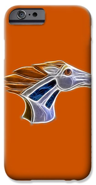 Glowing Bronco iPhone Case by Shane Bechler