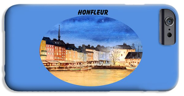 Quebec Paintings iPhone Cases - Honfleur  Evening Lights iPhone Case by Bill Holkham