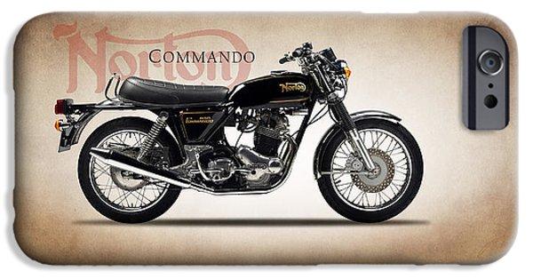 Motorcycle iPhone Cases - Norton Commando 1974 iPhone Case by Mark Rogan