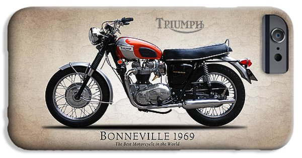 One iPhone Cases - Triumph Bonneville 1969 iPhone Case by Mark Rogan