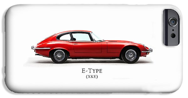 Vintage Car iPhone Cases - Jaguar E Type iPhone Case by Mark Rogan