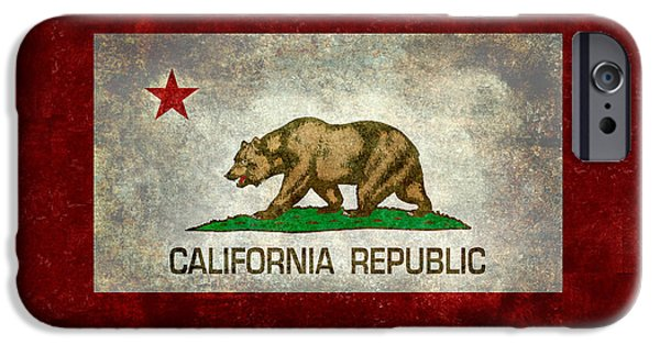 Patriotism iPhone Cases - State flag of California iPhone Case by Bruce Stanfield