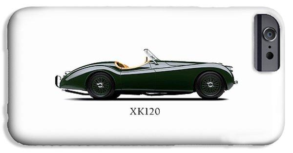 Jaguars iPhone Cases - Jaguar XK120 1949 iPhone Case by Mark Rogan