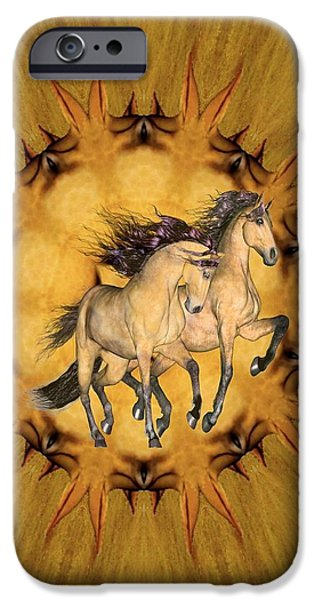 Virtual Paintings iPhone Cases - The Buckskins iPhone Case by Valerie Anne Kelly