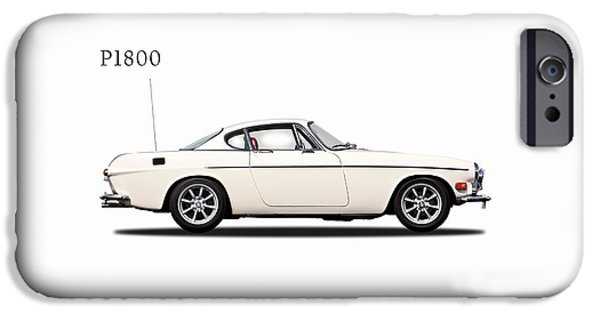 Vintage Car iPhone Cases - Volvo P1800 iPhone Case by Mark Rogan