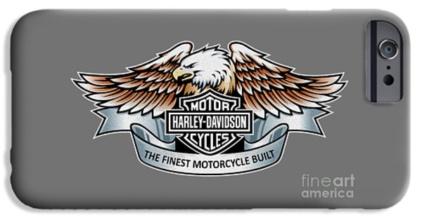 Poster iPhone Cases - The Finest Motorcycle Built iPhone Case by Mark Rogan