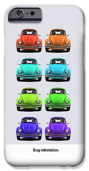 Volkswagen iPhone Cases - Bug infestation. iPhone Case by Mark Rogan
