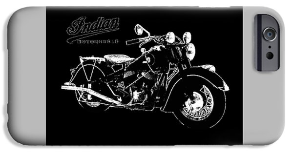Motorcycle iPhone Cases - Indian Chief 1946 iPhone Case by Mark Rogan