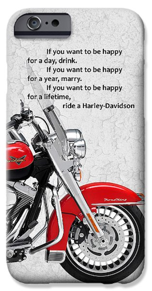 Harley Davidson Photographs iPhone Cases - If you want to be happy iPhone Case by Mark Rogan