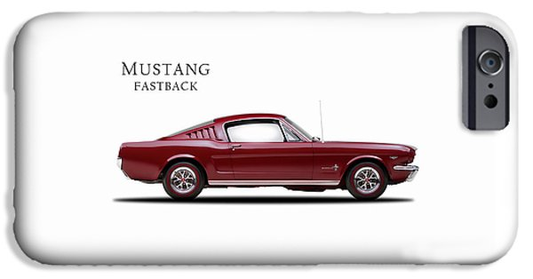 Muscle Car iPhone Cases - Ford Mustang Fastback 1965 iPhone Case by Mark Rogan