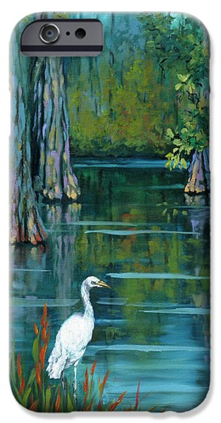 Cypress Trees iPhone Cases - The Fisherman iPhone Case by Dianne Parks