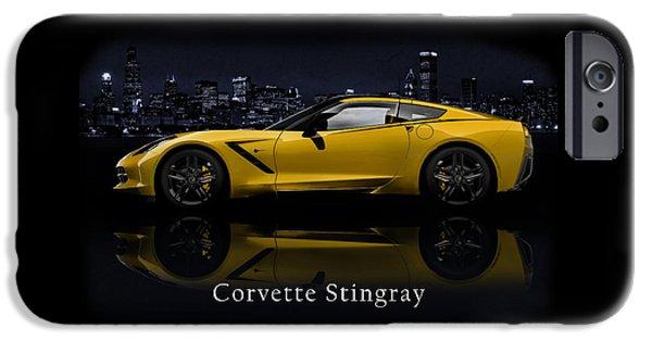 Transportations iPhone Cases - Corvette Stingray iPhone Case by Mark Rogan