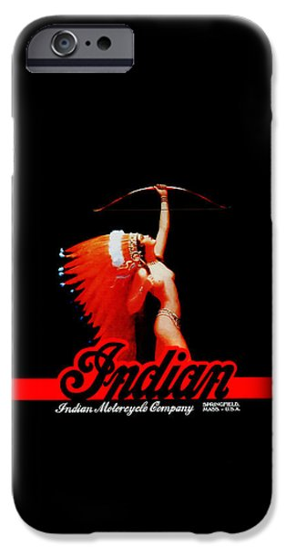 Motorcycle iPhone Cases - The Indian Motorcycle Company iPhone Case by Mark Rogan