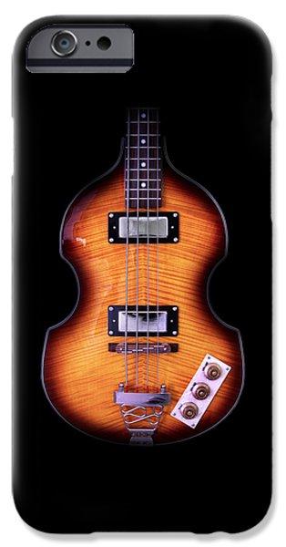 Hofner iPhone Cases - Epiphone Viola Bass Guitar iPhone Case by John Cardamone
