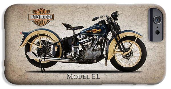 Model iPhone Cases - Harley Davidson Model EL iPhone Case by Mark Rogan