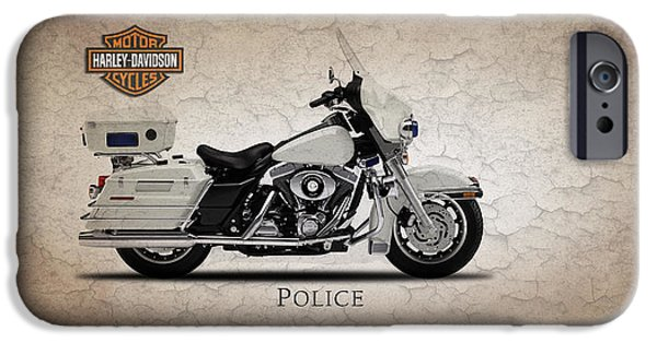 Police iPhone Cases - Harley Davidson Police Electra Glide iPhone Case by Mark Rogan