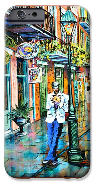 Royal Paintings iPhone Cases - Jazzn iPhone Case by Dianne Parks