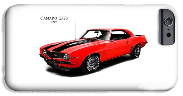 Muscle Car iPhone Cases - Chevrolet Camaro Z 28 iPhone Case by Mark Rogan