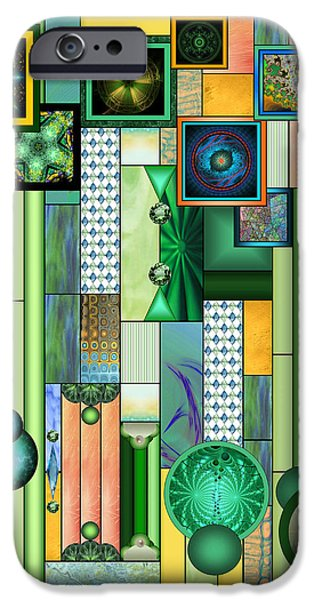Fractal Orbs iPhone Cases - The Gallery iPhone Case by Ellen Henneke