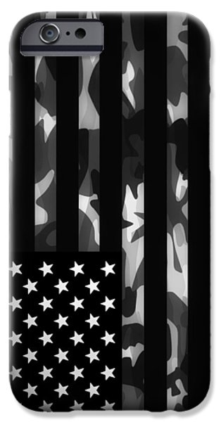 Marine iPhone Cases - American Camouflage iPhone Case by Nicklas Gustafsson