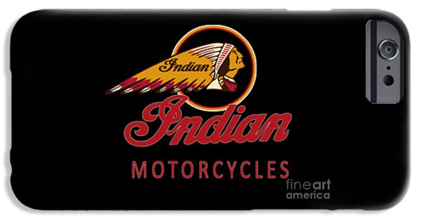 Indian iPhone Cases - Indian Motorcycles iPhone Case by Mark Rogan