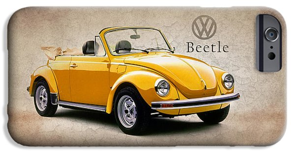 Volkswagen iPhone Cases - VW Beetle 1972 iPhone Case by Mark Rogan
