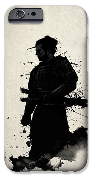 Watercolor iPhone Cases - Samurai iPhone Case by Nicklas Gustafsson