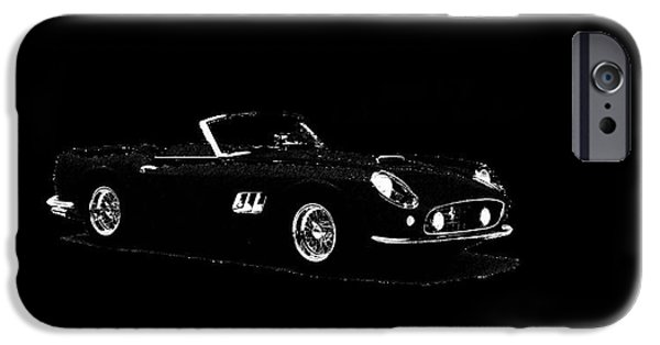 Vintage Car iPhone Cases - Ferrari 250 GT iPhone Case by Mark Rogan