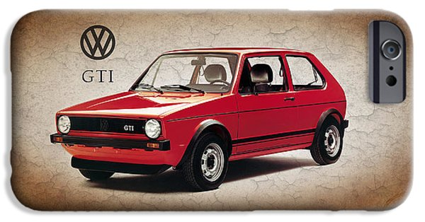 Vw iPhone Cases - VW Golf GTI 1976 iPhone Case by Mark Rogan