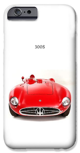 Motor Sport iPhone Cases - Maserati 300 S iPhone Case by Mark Rogan