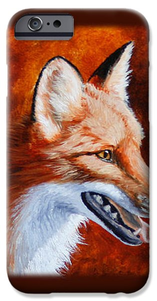 Red Fox - A Warm Day iPhone Case by Crista Forest