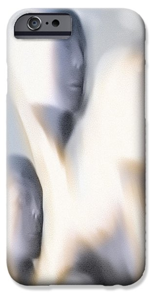 Abstract Expressionism iPhone Cases - As If I Were Dead iPhone Case by Bob Orsillo