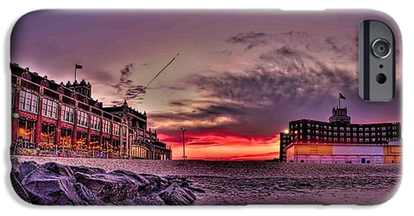 American Flag iPhone Cases - Asbury Park Sunset  iPhone Case by Geraldine Scull