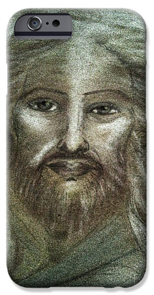 Son Of God Pastels iPhone Cases - Ascended Master Jesus iPhone Case by Jennifer Kamadon
