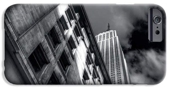 Empire State iPhone Cases - Ascending To The Sky iPhone Case by Mike  Deutsch