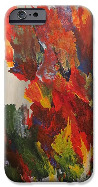 Red Abstract iPhone Cases - Ascension iPhone Case by Soraya Silvestri